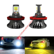 H11 H8 LED FOG LIGHT BULB DRL DRIVING LAMP SWITCHBACK DUAL COLOR WHITE + YELLOW