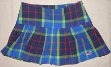 Hollister NEW Juniors Womens Imperial Plaid Skirt Blue Green Red Size 1