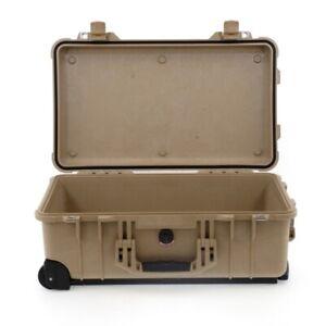 Peli Case 1510 Trolley Desert Tan ohne Schaum leer Fotokoffer Schutzkoffer NEU