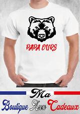 tee shirt humour PAPA OURS