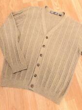 Vintage Oscar De La Renta Cardigan Sweater Mens Size X Large Khaki Gray Knit