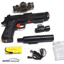 Automatic Electric Toy Pistol Gun Shooting Soft Bullets Crystal Water Gift Kids