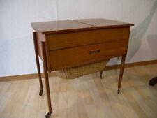 Nähtisch Näh Kästchen Tisch Teak Denmark 60er 70er alt Vintage Mid Century Holz