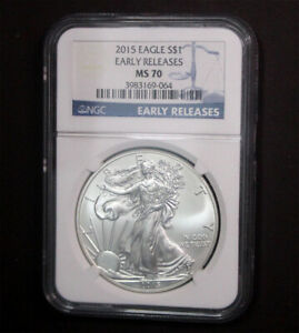 USA 2015 Eagle $1 Early Releases NGC MS70  #250104