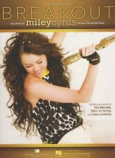 """MILEY CYRUS """"BREAKOUT"""" SHEET MUSIC-PIANO/VOCAL/GUITAR-BRAND NEW ON SALE-RARE!!"""