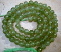 "GREEN AVENTURINE 5-5.5mm ROUND Gemstone Beads 14.5"" strand"