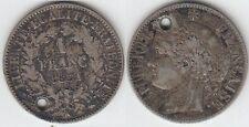 +Gertbrolen+ 1 Franc argent Cérès Deuxième République 1851 Paris
