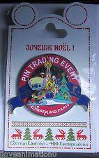 Disney DLP Christmas Pin-Doll Party Pin Trading Event  Paris Stitch Jumbo Pin