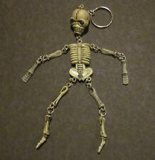 """Skeleton with jeweled eyes 6"""" key chain keychain keyring key ring"""