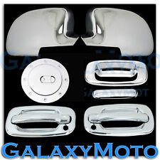 99-06 GMC Sierra Chrome Mirror+2 Door Handle+PSG Keyhole+Tailgate+Gas Tank Cover