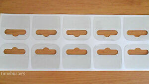 100 Sticky Euro Hook/Hangers/Hang Tabs Shop Display 42mm x 38mm Strong Adhesive