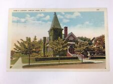 Asbury Park Public Library Vintage Color Postcard Posted Early 1900s New Jersey