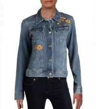 Lauren Ralph Lauren Plus Spring Embroidered Denim Jacket 14