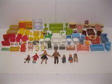 Huge Marx, MPC, & German Plastic Miniature Doll House Furniture Lot