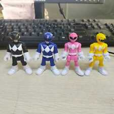 Lot/ 4xFisher Price Imaginext Power Rangers Pink Yellow Blue Black Ranger