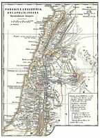 MAP ANTIQUE 1865 SPRUNER PALESTINE HISTORIC LARGE REPLICA POSTER PRINT PAM0342