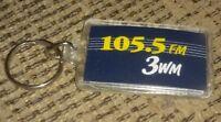 WWWM 3wm FIRST CUMULUS FM RADIO STATION vintage key chain ring TOLEDO OHIO PROMO
