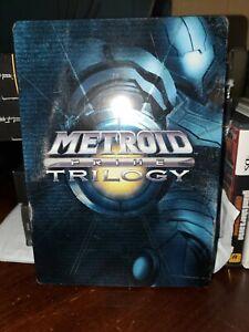 Metroid Prime Trilogy Steelbook Nintendo Case Game Manual History poster