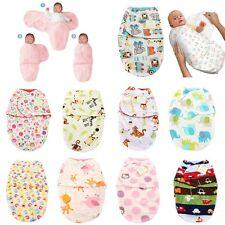 NewBorn Unisex Cosy Secure Baby Swaddle Blanket Wrap Sleeping Bag for Pram Crib