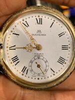 VINTAGE BUCHERER Antique RARE Amazing 17 Jewels Pocket Watch WORKING  !!
