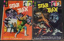 Vintage Gold Key/Whitman STAR TREK 14pc Low-Mid Grade Comic Lot VG- to FN TV