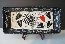 """""""I Love You Yeah, Yeah""""  NEW 16"""" Rectangular Ceramic Tray - by WITH LOVE, JOANNE"""
