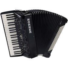 Hohner AMICA IV Series 120 Bass Chromatic Piano Accordion - Black + Case, Straps