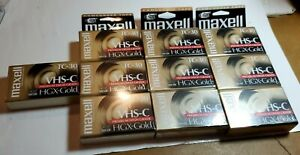 10 Maxell VHS-C HGX-GOLD TC-30 Video Camcorder Tape Brand New! Sealed!