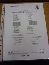 16/07/2014 Teamsheet: Legia Warszawa v St Patricks [Friendly] . Thanks for viewi