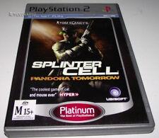 Tom Clancy's Splinter Cell Pandora Tomorrow PS2 (Platinum) PAL Complete