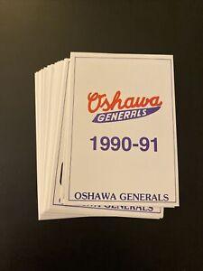 1990-91 Oshawa Generals OHL Team Set