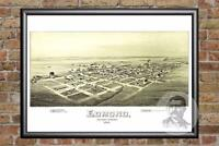 Vintage Edmond, OK Map 1891 - Historic Oklahoma Art - Old Victorian Industrial