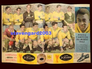 SOCCER WORLD CUP BRAZIL Team Champion 1962  Argentina POSTER