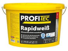 5x PROFITEC P 118 Rapidweiß 12,5 Liter - mit erstklassigem Deckvermögen