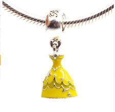 Belle princess skirt Pendant Alloy Bead Fit European Charm Bracelet hl7jw