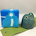"Kotobuki Japanese Wind Chime Cast Iron Green ""Fukuro"" Owl #485-294 Made in Japan"