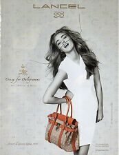 Publicité Advertising 2012  LANCEL créé par DALI sac à main collection mode