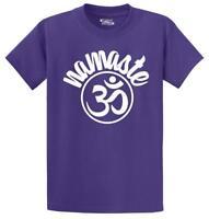 Mens Namaste Om T-Shirt Yoga Fitness Health Buddha  Shirt