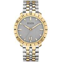 Bulova Men's Accutron II 98B216 Moonview Quartz Grey Dial Two-Tone 42mm Watch