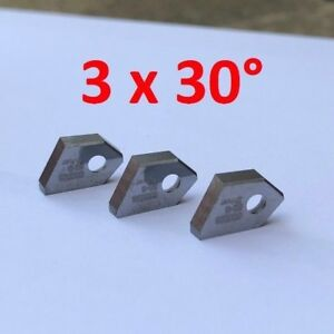 3 x 30° valve seat cutting tip bit insert SERDI ROTTLER SUNNEN KWIK WAY