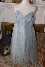 NWT ASOS Plus Size Light blue Fairy Lace bustier tulle TUTU Dress Size US 14