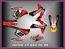 HONDA XR650R XR 650R  SEMI CUSTOM GRAPHICS KIT BLACKWING