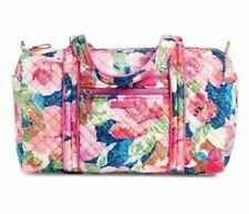 Vera Bradley Iconic Cotton Small Duffel Bag Superbloom Pattern Pink 23162