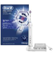 Oral-B Pro 3000 3D White Electric Toothbrush With Bluetooth Connectivity