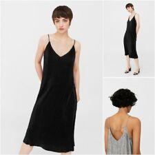 NEW MANGO (ZARA GROUP) Flowy Pleated Dress in Black and Grey, Size S, M, L