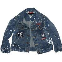 Kids Tommy Hilfiger Vintage Jean Jacket Button Down Blue Denim Sz 2T