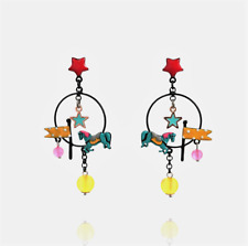 earrings Horse - Creole - the track to the Star - Red