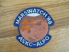 MARSWATCH '88 ASKC-ALPO PATCH--007