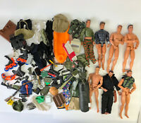 "1990s 12"" Action Man Figure Doll Weapons Accessories GI Joe M&C Formative Lot 30"