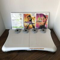 Nintendo Wii Fit Balance Board W/ Extra Feet and 3 Games CLEANED/TESTED/WORKS